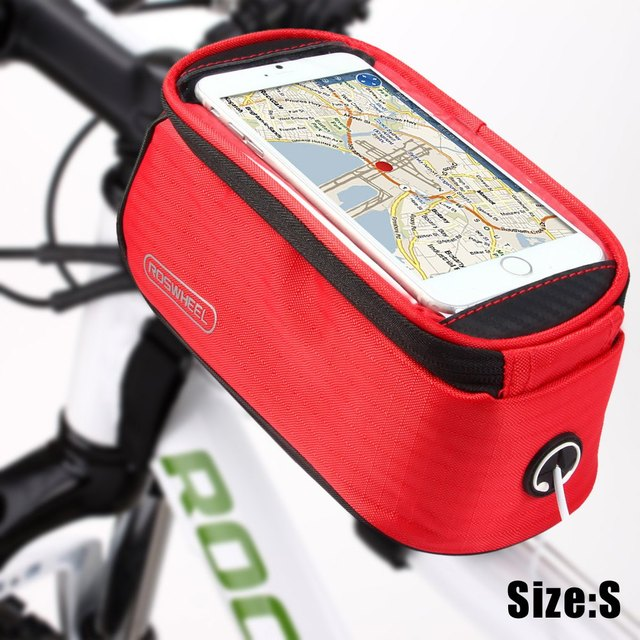 Roswheel 5.5 inch Touch Screen Bicycle Saddle Phone Bag Holder Handlebar Pack Phone & GPS Holder Phone Bag Bicycle Bike Bag
