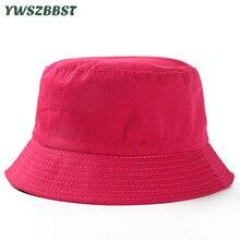 купить Children Sun Hats Solid Color Summer Beach Boys Bucket Hat Kids Sun Hat for Girls Fashion Children Beach Cap Baby Caps онлайн