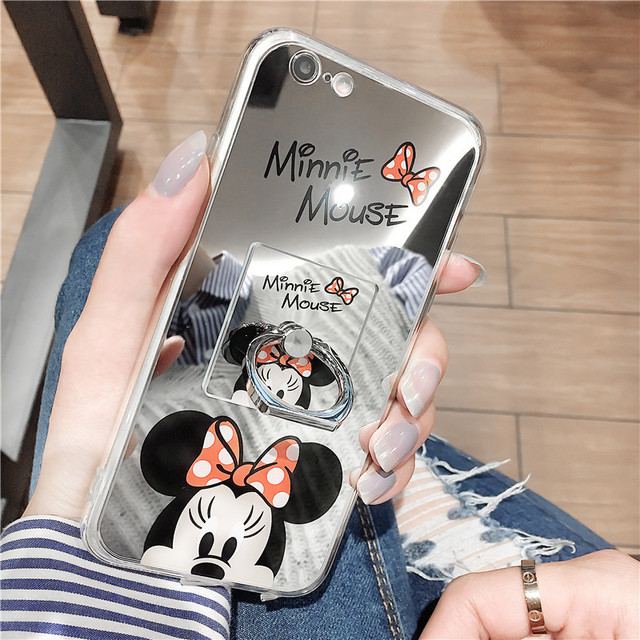 Mickey Mouse Spiegel.Mickey Mouse Spiegel Gevallen Voor Samsung S8 S8plus Plus Acryl Achterkant Coque Leuke Cartoon Ring Grip Stander Case Capa Shell In Mickey Mouse