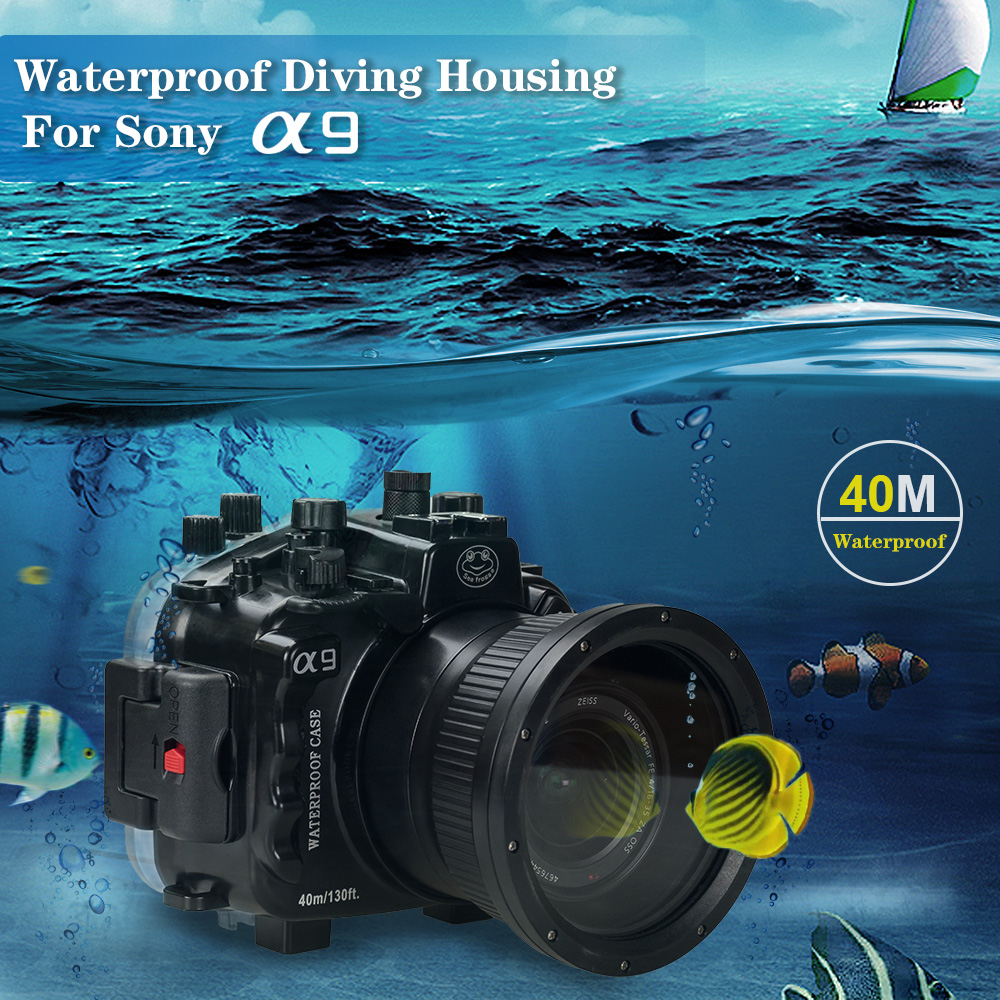 Mcoplus 40m/130ft Underwater Camera Housing Case Bags For A9 Camera