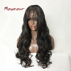 Maycaur Brown Natural Hair Synthetic Lace Front Wig Big Wave Long Lace Wigs with Baby Hair