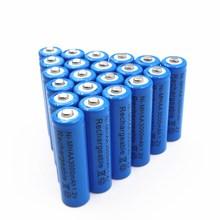 20 個 aa 1.2v 3000 バッテリー単三ニッケル水素 1.2v 充電式電池バッテリーの庭ソーラーライト led 懐中電灯トーチドロップシッピング