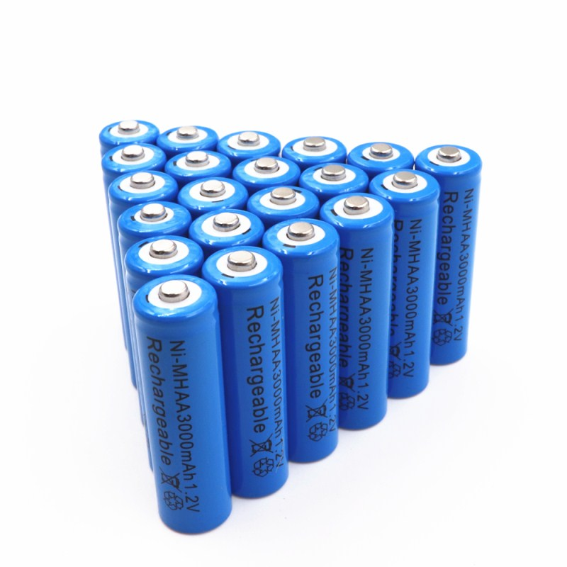 20pcs AA 1.2V 3000mAh battery AA Ni MH 1.2v Rechargeable Batteries battery Garden Solar Light LED flashlight torch Dropshipping-in Rechargeable Batteries from Consumer Electronics