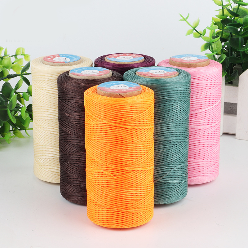 260m Waxed Thread Cotton polyester 0.8MM Hand Knitting String Strap Necklace Rope Bead Sewing Craft for Leather Caft Stitching