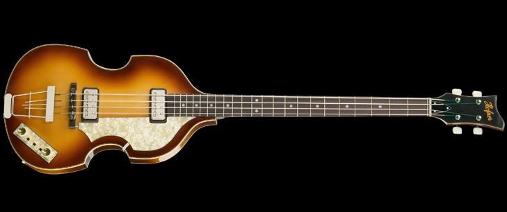 Nouveau Hofner basse 4 cordes basse spécial électrique basse guitare livraison gratuite en stock vintage sunburst mini micros de haute qualité