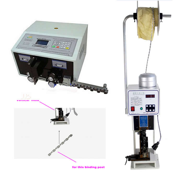 SWT508-C Computer Automatic Wire Stripping Machine + 1.5T Low noise Terminal Crimping Machine with horizontal mold caiman swt 50ex
