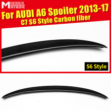 For Audi A6 A6Q High-quality Rear Spoiler Tail A6 C7 S6 Style Coupe Carbon Fiber Rear Spoiler Rear Trunk Wing car styling 13-17 стоимость