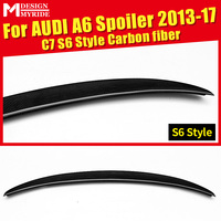 For Audi A6 A6Q High quality Rear Spoiler Tail A6 C7 S6 Style Coupe Carbon Fiber Rear Spoiler Rear Trunk Wing car styling 13 17