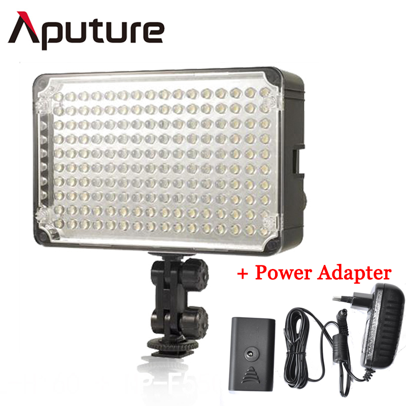 Aputure Amaran AL H160 LED Video Light Power Adapter Camera Light Bulb Photo Lighting 5500K For