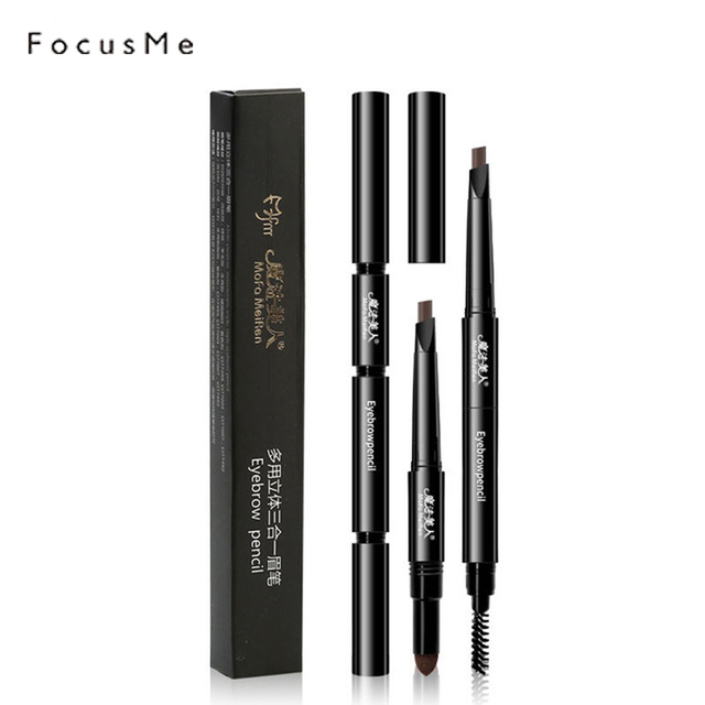 Fm Eyebrow Pencil 3 In 1 Natural Powder Brush Tattoo Eyebrow Tint