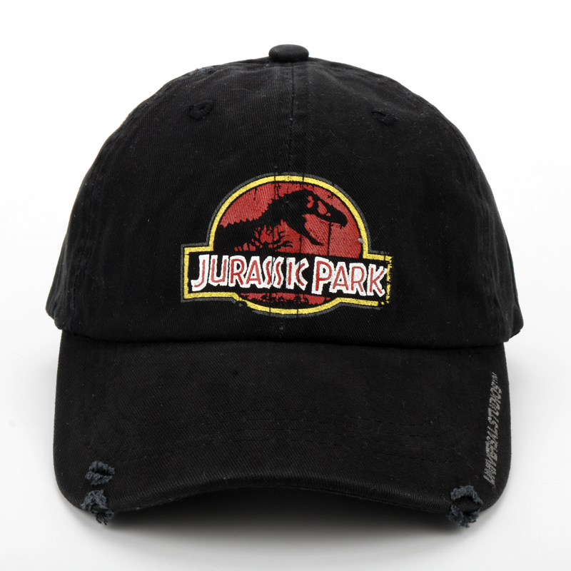 f105f9f91ed Printing Jurassic Park Black Baseball Cap Dad Casquette Snapback Hats  Fashion Sport Hat Men Washed Cotton Caps gorras-in Baseball Caps from  Apparel ...