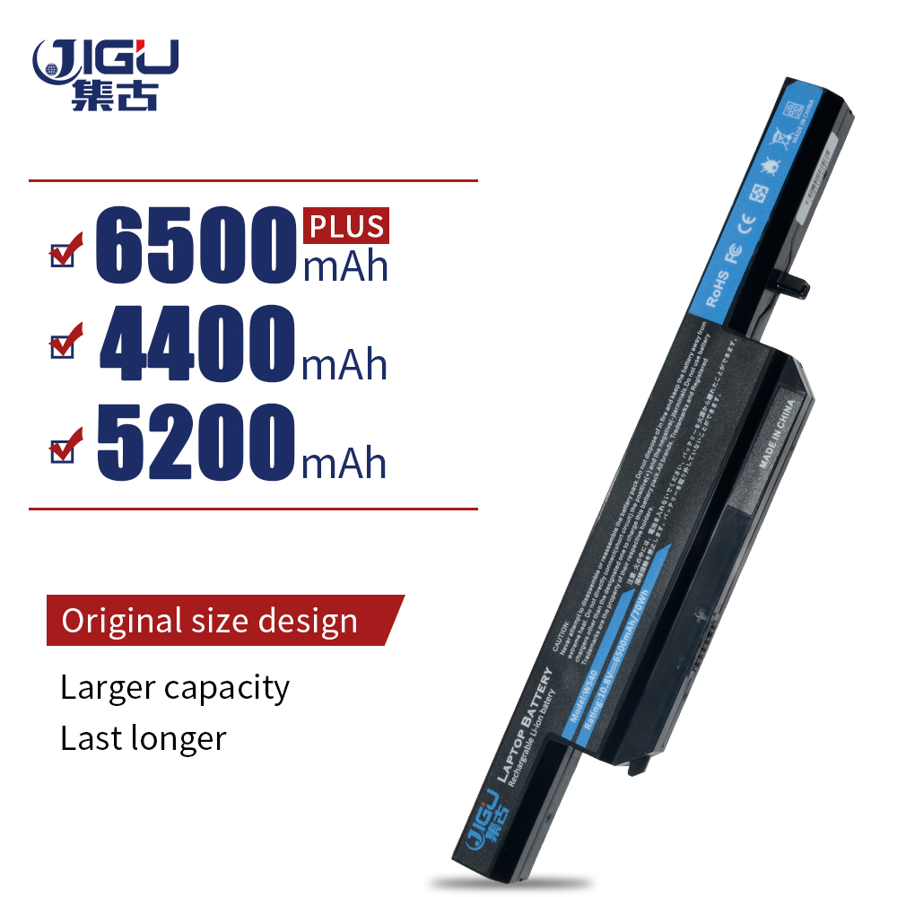 JIGU Laptop Battery 6-87-W540S-4U4 6-87-W540S-4W41 W540BAT-6 FOR CLEVO W155U W540EU W545EU