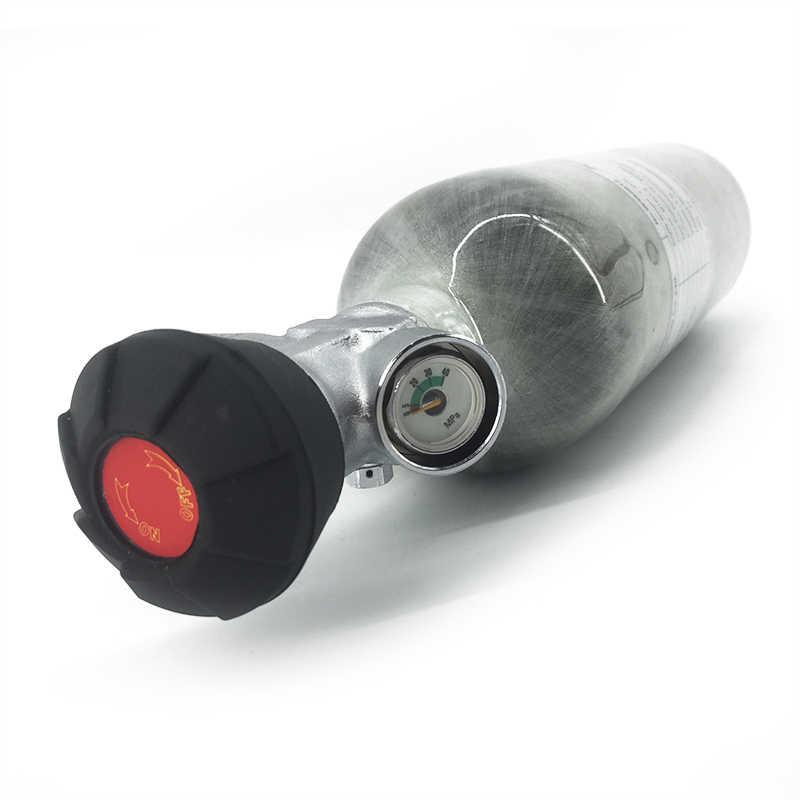 AC30111 Mini Scuba Tank Pcp Ventil 1,1 Paintball Pcp Air Tank 4500psi Air Gewehr Carbon Faser Zylinder für Tauchen Pcp condor Ventil