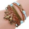 Многослойные браслет якорь браслет мужская paracord браслеты любовь pulsera hombre кожаный браслет bijoux homme