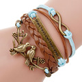multilayer Charm bracelet anchor bracelet men paracord bracelets love pulsera hombre leather bracelet bijoux homme