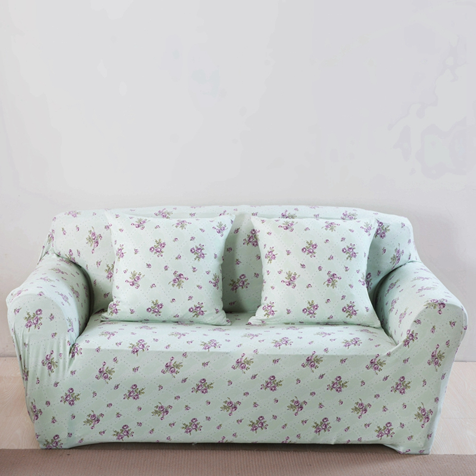 Light Green Corner/Couch Sofa Covers For Living Room Multi
