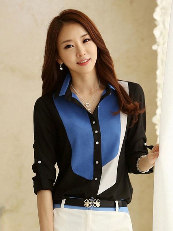 Fashion Womens   Blouse     Shirt   Slim Embroidery Batwing Sleeve tunics plus size long Chiffon polka dot Silk 2019