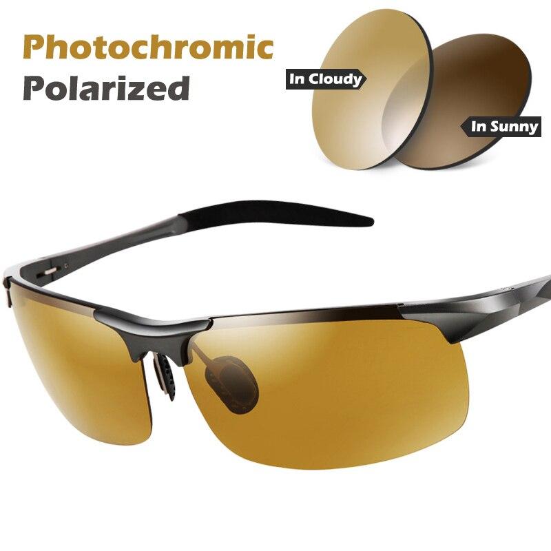 7ab744be24bf0 AOTEAN Dia Noite Photochromic Polarizada óculos de Sol dos homens óculos de  Sol para Os Motoristas