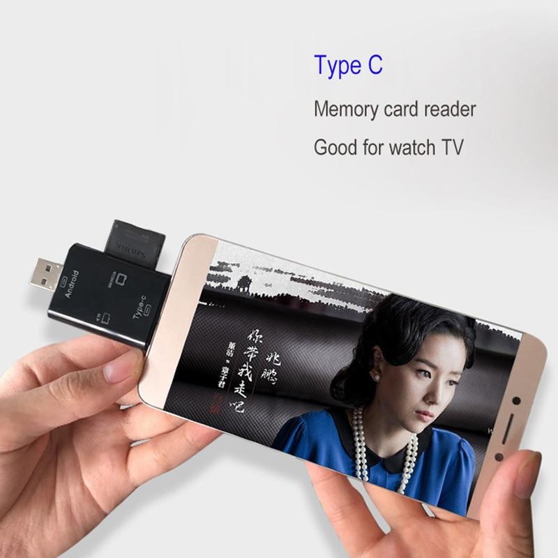 Купить с кэшбэком Multi In 1 SD Card Reader USB 3.0 Type C Memory Card Reader For Android Xiaomi  Desktop PC OTG Type-c For Micro USB OTG
