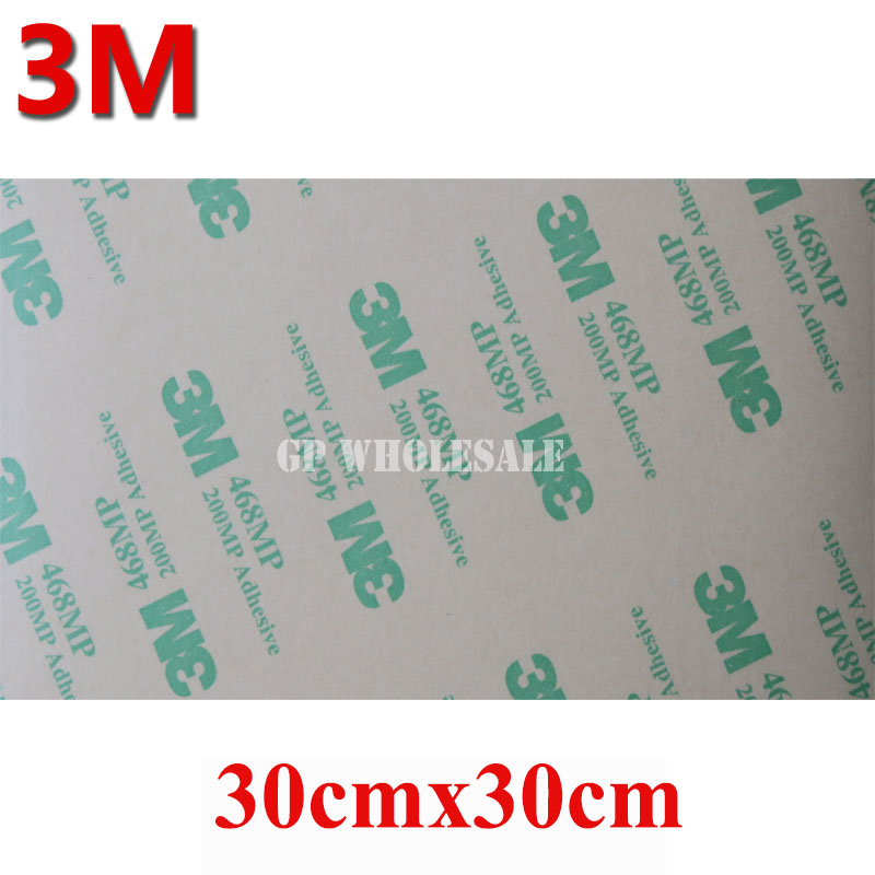 Big 30cm*30cm Pre-cut 3M 468 Double Adhesive Sticker, High Temperature Resist 3M 468MP 200MP 300mm*300mm reedoon 6488 men s fashionable resin lens uv400 protection polarized sunglasses silver grey
