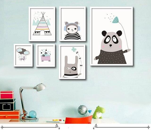 Cuadros decorativos cartel Arte para niños habitación del bebé lindo ...
