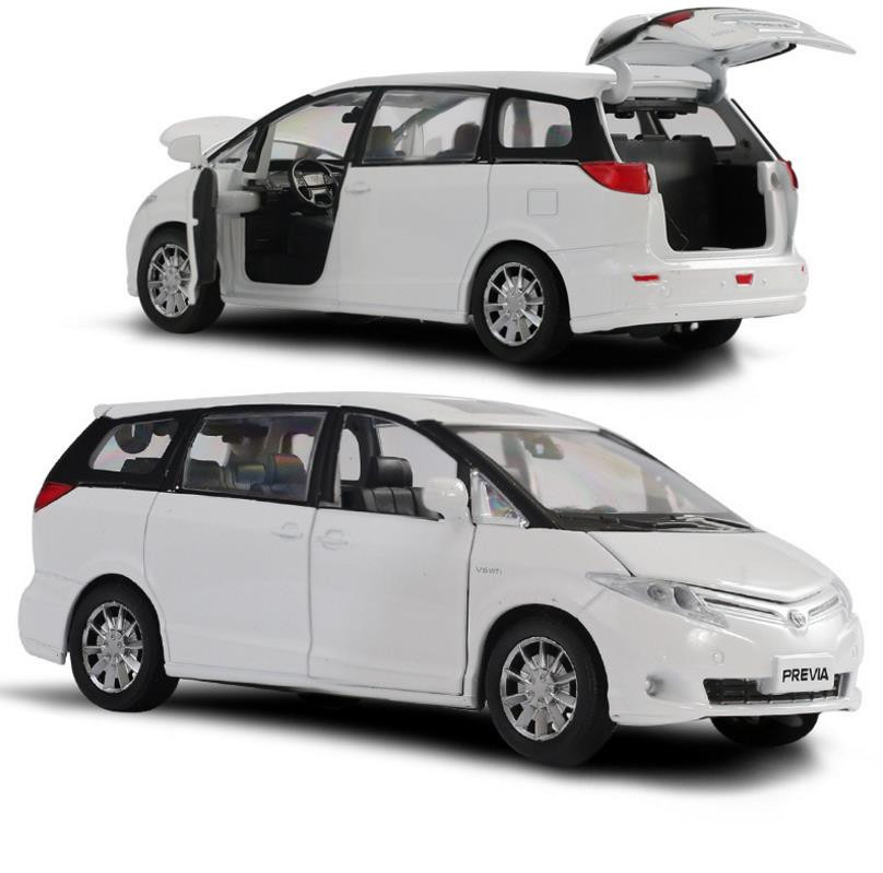 Hot Sale High Simulation Toyota Previa Model 1:32 Alloy Pull Back Car Toy,diecast Metal Model Vehicle,wholesale