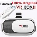 ГОРЯЧАЯ Google картон VR BOX II 2.0 Версия VR Виртуальная реальность 3D Очки Для 3.5-6.0 дюймов Смартфон + Bluetooth Контроллер 2.0
