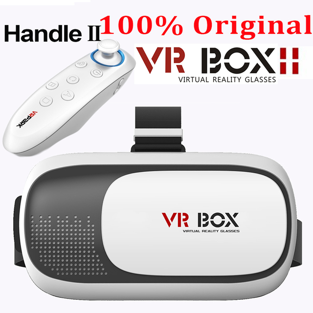 HOT Google cardboard VR BOX II 2.0 Version VR Virtual Reality 3D Glasses For 3.5 - 6.0 inch Smartphone+Bluetooth Controller 2.0