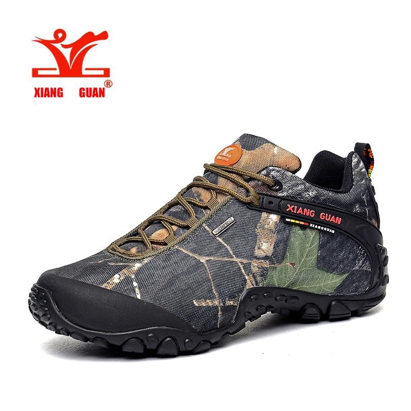 XIANGGUAN Hiking Boots Outdoor Sneakers male camouflage Climbing Camping Shoes High Cut Trekking Men Shoes  ID81289 winter men s outdoor warm cotton hiking sports boots shoes men high top camping sneakers shoes chaussures hombre