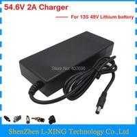 48V Lithium Battery Charger Output 54 6V 2A Charger Use For 13S 48V Ebike Battery 54