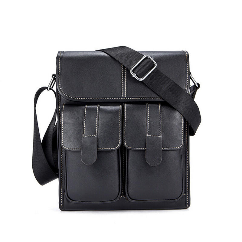Men's Shoulder Bag Flap Genuine Cowhide Leather Messenger Bags For Men Crossbody Bag Small Men's Leather Handbag Hot Sale imido hot sale designer genuine leather bags women shoulder bag cowhide crossbody small bags purple yellow dollar price mg020