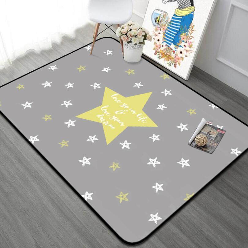 120x180 cm INS européenne Star doux enfants chambre tapis de jeu moderne chambre petits tapis grands tapis roses ramper pad pour salon