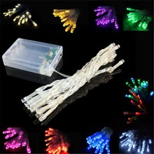 Free Shipping Hot sale Led string 2m 20led with AA batteries Powered String lights for weddings holiday decraction