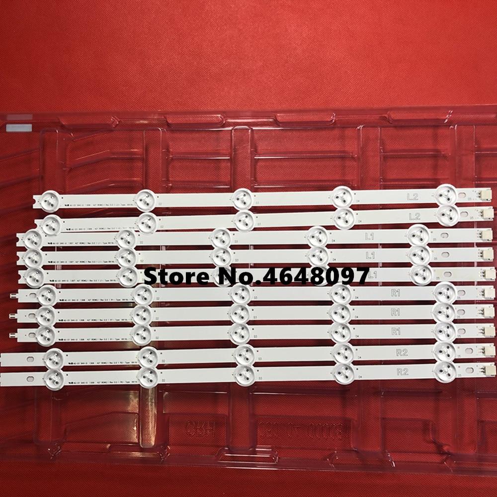 New 5set=50 Pcs R1 L1 R2 L2 Led Strip Perfect Replacement For Lc420due 42ln5400 6916l-1385a 6916l-1386a 6916l-1387a 6916l-1388a Punctual Timing Computer & Office