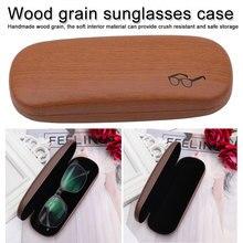 High Quality Wood Grain Hard Kit Holder Wooden  Reading Glasses Case for Men and Women Eyeglass Box sunglasses holder