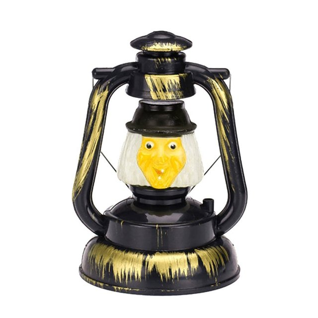 US $4 28 10% OFF|NANUM Halloween Decoration LED Mask Kitch Ghost Screaming  Hanging Running horse Battery Lantern Outdoor Party Night Light Lamp-in