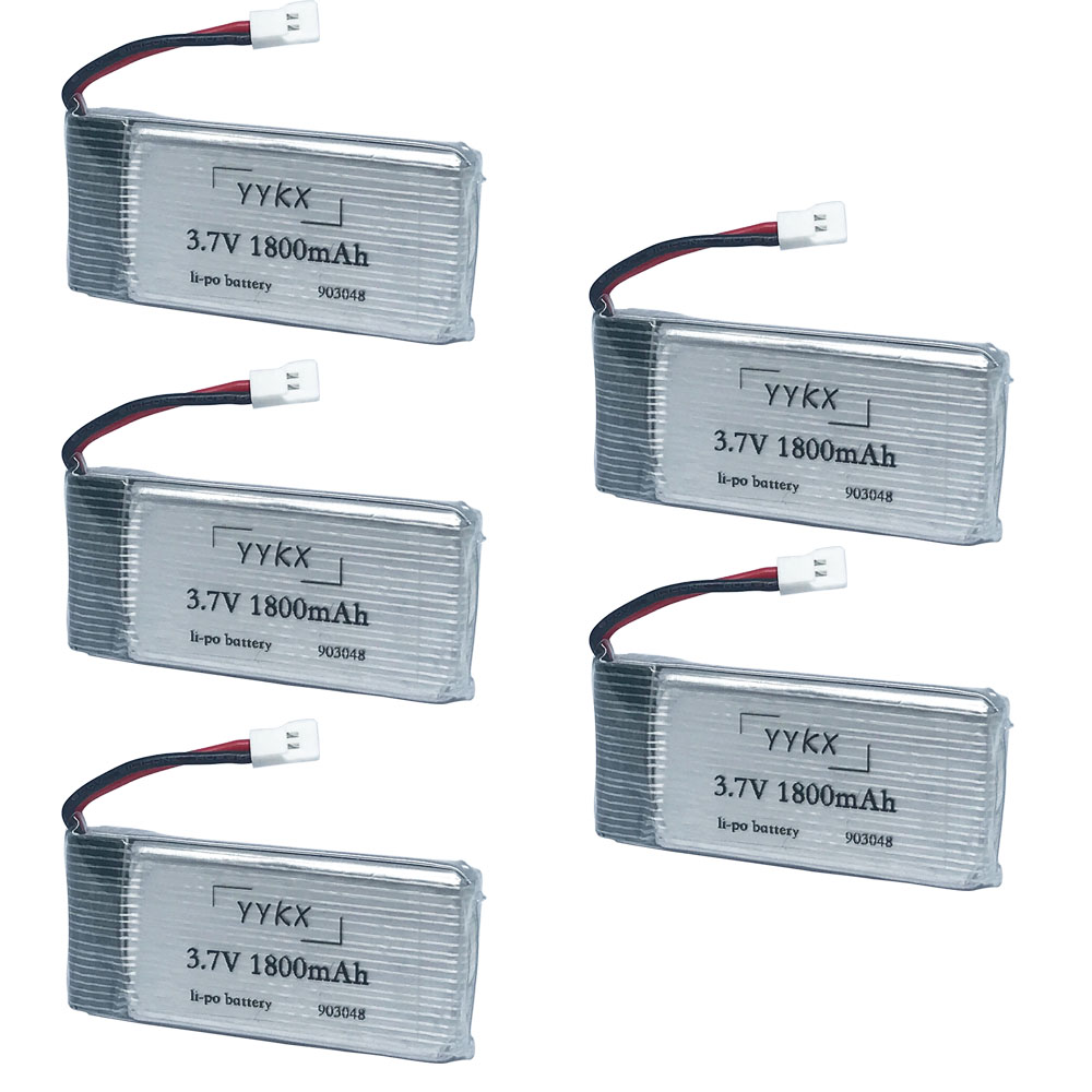 Original <font><b>3.7V</b></font> 1800mAh lithium battery RC Quadcopter toy accessories KY601S fat battery accessories 3.7 v <font><b>1800</b></font> <font><b>mah</b></font> 5pcs/4pcs/3pcs image
