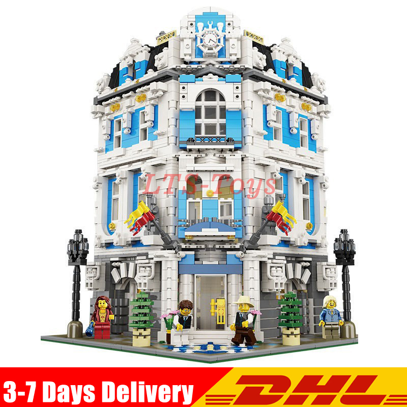 IN Stock DHL Lepin 3196pcs 15018 MOC Creator City Series The Sunshine Hotel Set Building Blocks Bricks Educational Toy LegoINGys new 3196pcs lepin 15018 moc city series the sunshine hotel set building blocks bricks educational toys diy children day s gift