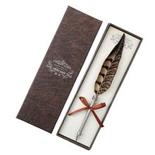 Retro Quill Dip Feather Pen Fountain Pens Calligraphy Supplies Writing Tool New