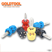 7 in 1 radish head mini screwdriver multi-function manual screwdriver gift screwdriver bit set  screwdriver set