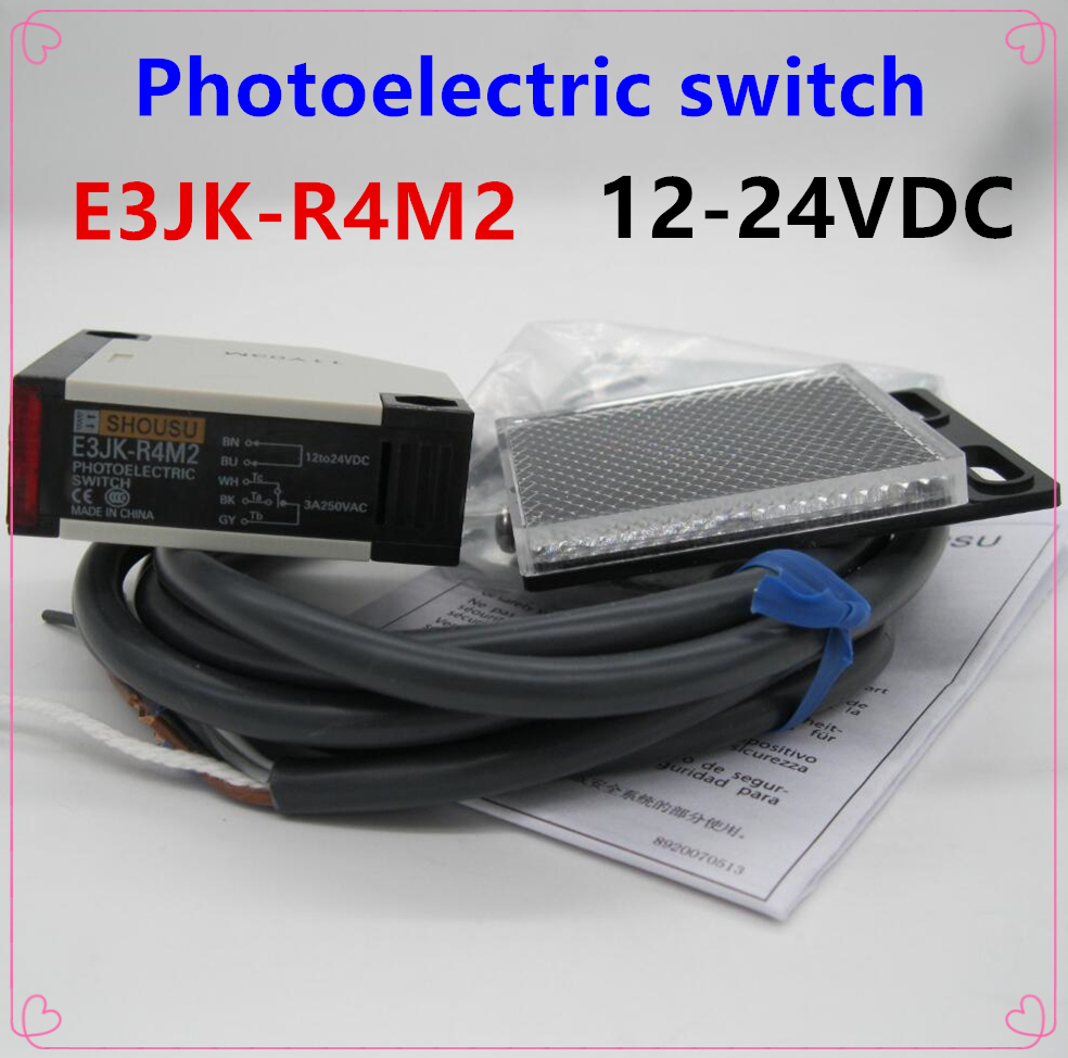 New Original Taiwans Yangming Fotek Photoelectric Switch Wiring E3jk R4m2 Sensor 12 24vdc 5 Wires High Quality With Reflector