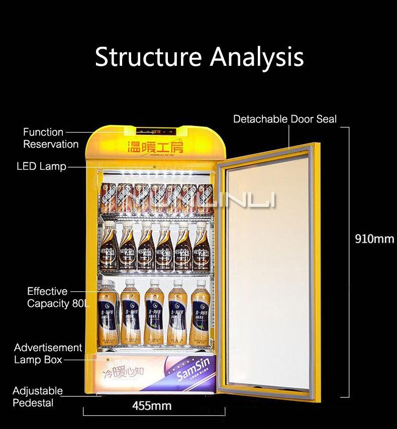 Commerciële Isolatie Verwarming Kabinet Display Houder Drinken Showcase Warmte Behoud Doos Drank kast SR 65 - 2