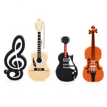 instrument series usb flash drive 128gb pen violin USB 2.0 4GB 8GB pendrive 16GB 32GB 64GB music memory stick holiday gift