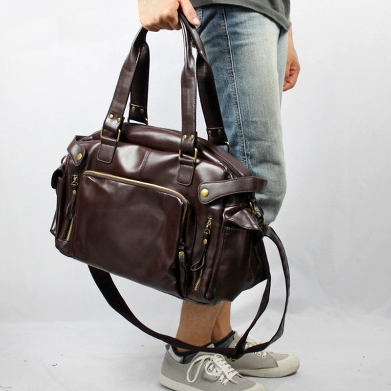 2019 Leather Men s Travel Bags Casual Shoulder Bag Brand Men Messenger Bags Large Capacity Handbag