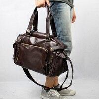 2019 Leather Men's Travel Bags Casual Shoulder Bag Brand Men Messenger Bags Large Capacity Handbag Man Travel Duffle Totes