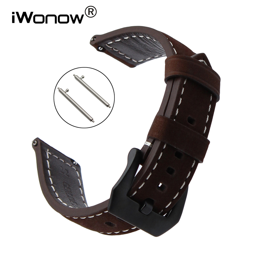22mm Quick Release Italian Genuine Leather Watchband for Timex CK Calvin Klein Armani Diesel DZ Fossil Watch Band Wrist Strap