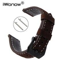 22mm Quick Release Italian Genuine Leather Watchband for Timex CK Calvin Klein Armani Dies