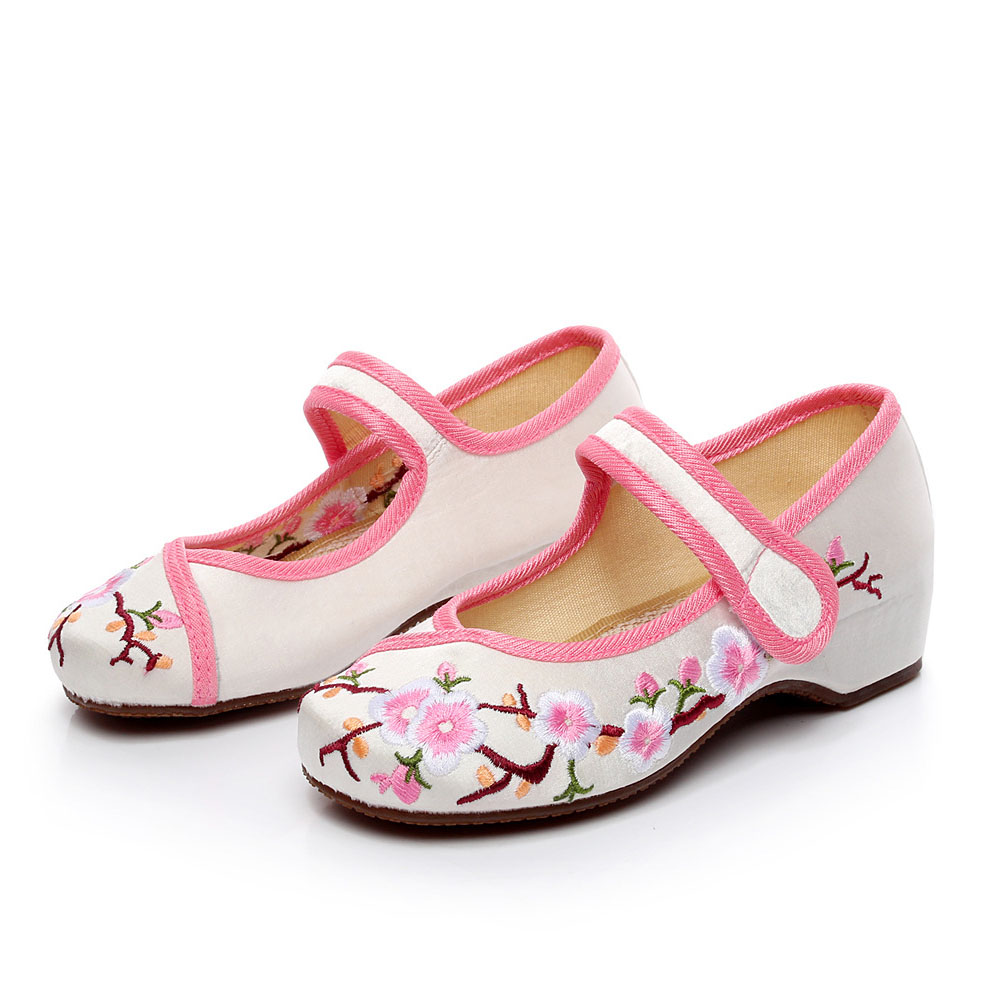 Fashion Kids Shoes 2016 Old Beijing Mary Jane Flats For Girls With Casual Shoes Chinese Style
