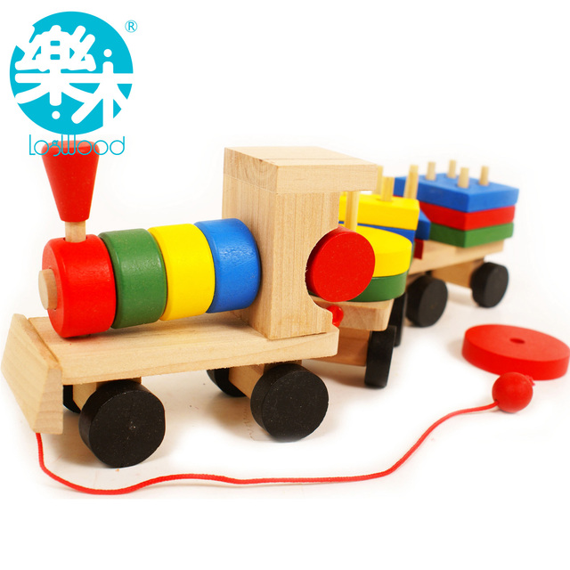 Child wooden educational shape trainmen toy x
