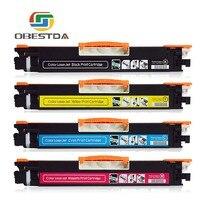 1Set CE310 CE310A 313A 126A 126 Compatible Color Toner Cartridge For HP LaserJet Pro CP1025 M275 100 Color MFP M175a Printer